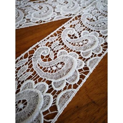 Macrame Cotton Lace White width cm.7.5 pack MT.8.50