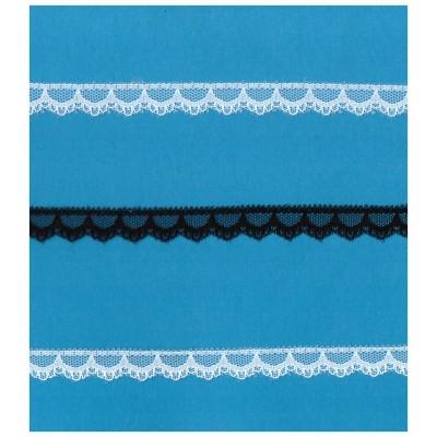 Raschel lace ribbon  width cm.1.2 pack mt.20 art.R206