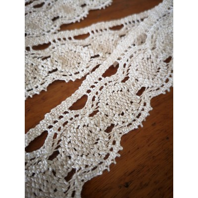 Cotton Lace Trim Scalloped Ribbon Width cm.3.5 pack mt.10 art.1668