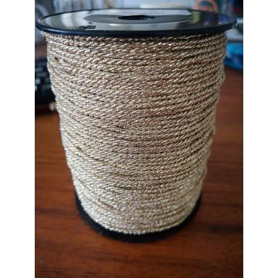 Cordon trenzado oro cuerda altura mm.2 paquete mt.100