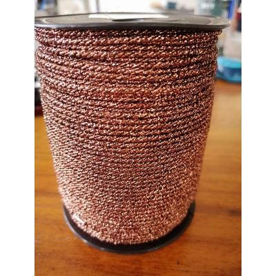 Cordoncino cordone lurex bronzo diametro mm.2 confezione mt.100