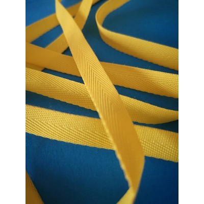 Yellow Fishbone Embroidered Ribbon Width mm.10 roll mt.150