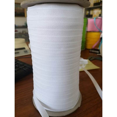 White Fishbone Embroidered Ribbon Width mm.10 roll mt.200