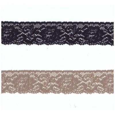 Pizzo valencienne elastico altezza cm.3.6 confezione mt.20 art.1223781