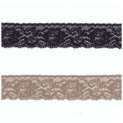 Raschel Elastic lace ribbon width cm.3.6 pack mt.20 art.1223781