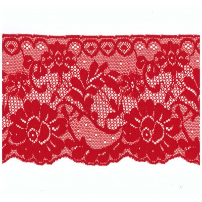 Elastic lace ribbon scalloped width cm.12 pack mt.20 Art.1013824