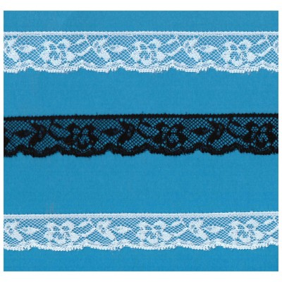 Raschel lace ribbon  width cm.2.3 pack mt.20 art.1005593