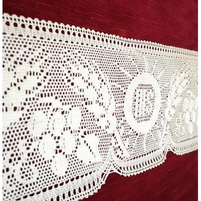 Pizzo merletto religioso ecclesiastico altezza cm.15 confezione mt.10 art.1779