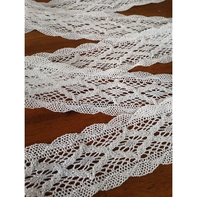 Bobbin Lace Trim Double Scalloped Width cm.5 pack mt.10 art.1512