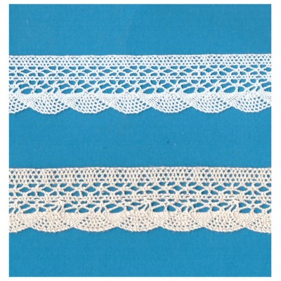 Cotton Lace Trim Scalloped Ribbon Width cm.2.5 pack mt.10 art.1247