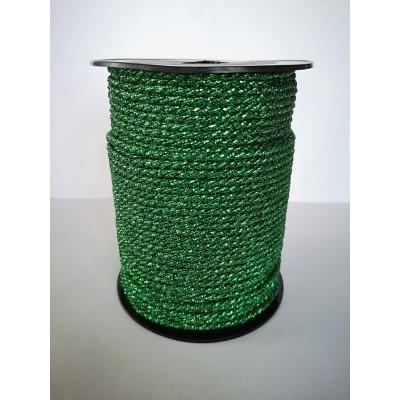Cordon rond vert tresse hauteur mm.3 paquet mt.50