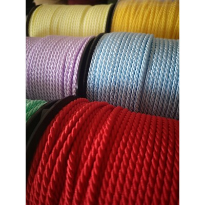 Braided twisted cord rope cordon width mm.3 pack mt.50