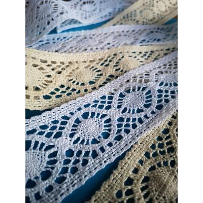 Cotton Lace Edge Ribbon width cm.4.5 mt.10 Art.0938
