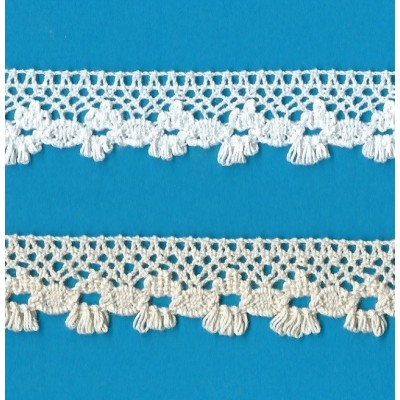 Cotton white lace ribbon wide cm.2.2 pack MT.10 Art.0934