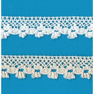 Encaje de Algodon Blanco altura cm.2.2 mt.10 Art.0934