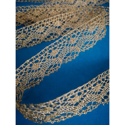 Gold lurex scallopped lace ribbon width cm.2 mt.10 Art.1418me1