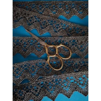 Pizzo smerlo dorato merletto tombolo oro altezza cm.4 mt.10 Art.1316me2