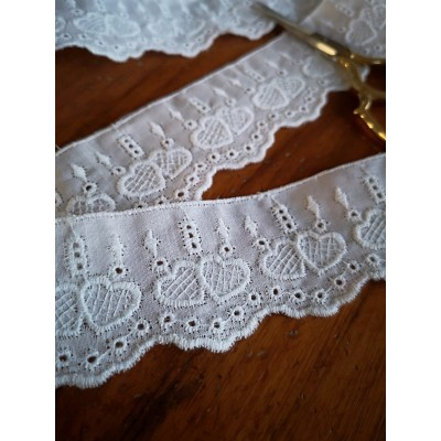 Eyelet Braided Cotton Lace width cm.3 pack mt.13.70 Art.5872