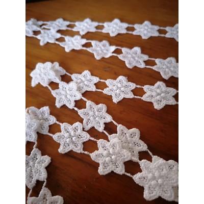 Macrame White Cotton Lace Trim width cm.2 pack mt.13