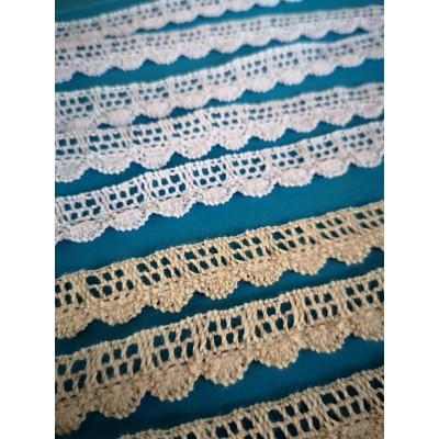 Cotton Lace Trim Cluny Torchon width cm.1.5 pack mt.10 Art.1135