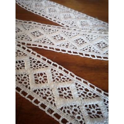Macrame Cotton Lace White width cm.4 pack MT.1.70