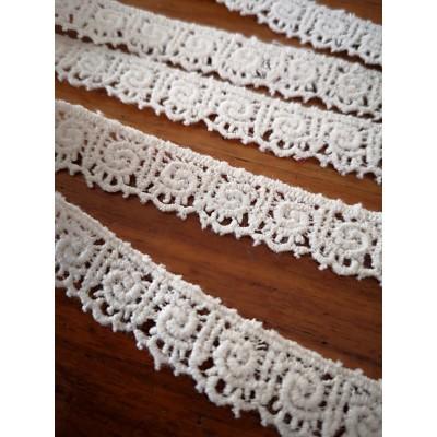 Macrame Cotton Lace Beige width cm.1.5 pack MT.13.80