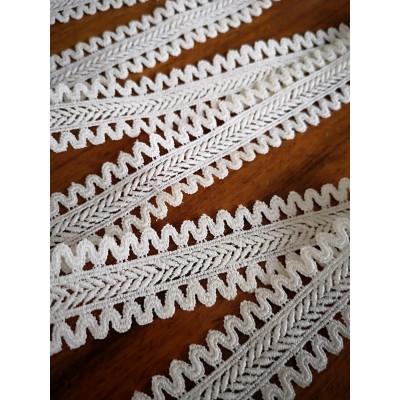 Macrame Ivory Cotton Lace Trim width cm.2.5 pack mt.5.50