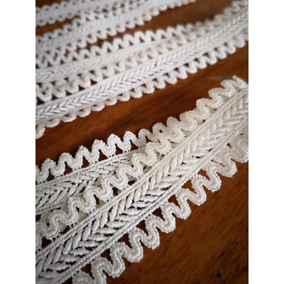 Macrame Ecru Cotton Lace Trim width cm.2.5 pack mt.8.90