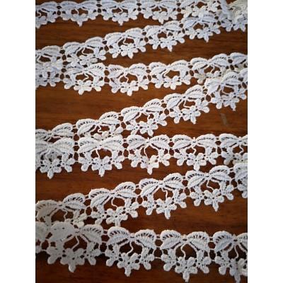 Macrame Cotton Lace White width cm.2 pack MT.13