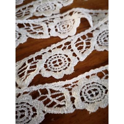 Macrame Cotton Lace Ivory width cm.3 pack MT.8