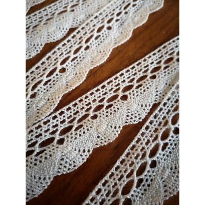 Fan Lace Trim Cotton Cluny Width cm.2.5 pack mt.10 art.1762