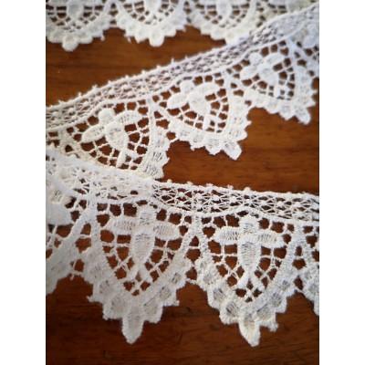 Macrame Cotton Lace White width cm.4 pack MT.1.20