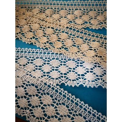 Cotton Lace Trim Cluny Torchon width cm.5 pack mt.10 Art.1312