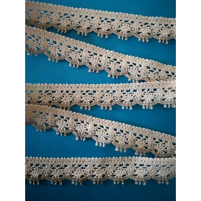 Cotton Lace Trim Scalloped Ribbon Width cm.2.5 pack mt.10 art.0620