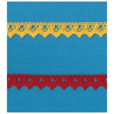 Dentelle coton ruban hauter cm.2 paquet mt.10 art.1223