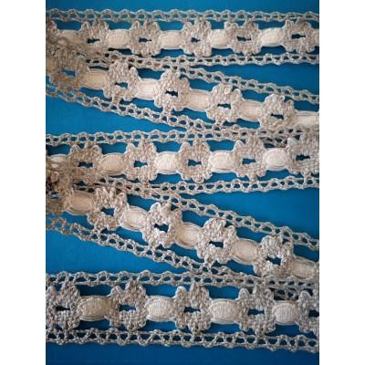 Dentelle Coton Ruban Broderie largeur cm.3.5 mt.10 Art.1797