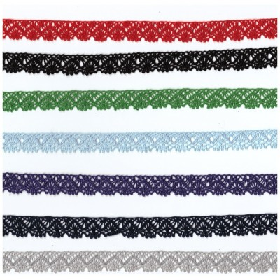 Cotton Lace Trim Scalloped Ribbon Width cm.1.5 pack mt.10 art.0259