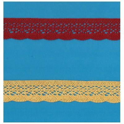 Encaje de Bolillos de Algodon Colorido altura cm.2.5 pieza mt.10 Art.1247
