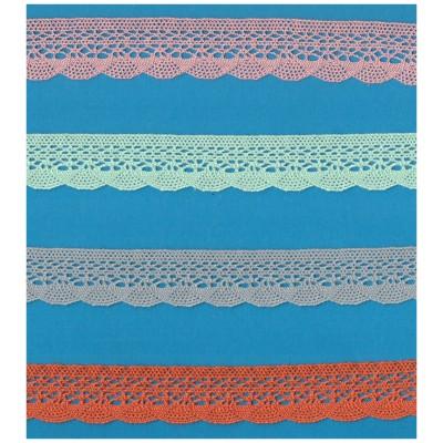 Encaje de Bolillos Algodon altura cm.2.5 pieza mt.10 Art.1247