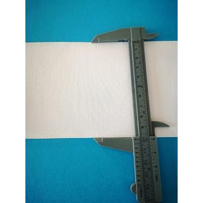 Nastro elastico gallone bianco altezza mm.100 confezione mt.50
