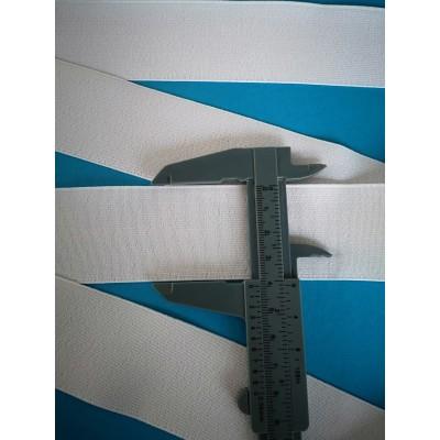 Nastro elastico gallone bianco altezza mm.40 confezione mt.50