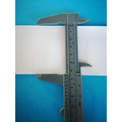 Elastic white ribbon stretch band width mm.65 pack. mt.50
