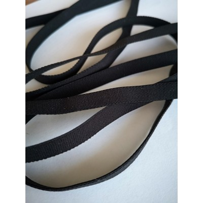 Elastic black ribbon stretch band strap width mm.8 pack. mt.20