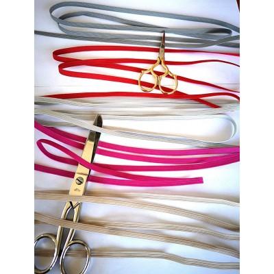 Tressè elastique ruban colorè pour bavettes largeur mm.6 paquet mt.20