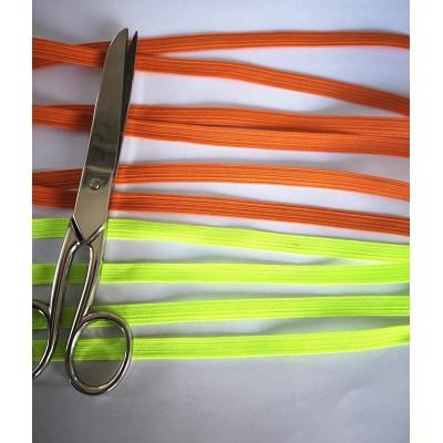 Treccia elastica colorata per mascherine altezza mm.8 confezione mt.20