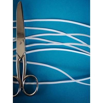 Tressè elastique ruban blanc pour bavettes largeur mm.3 paquet mt.20