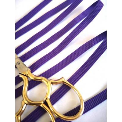 Treccia elastica viola per mascherine altezza mm.6 confezione mt.20