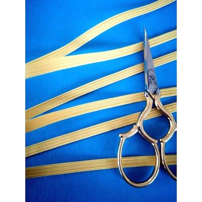 Tressè elastique ruban jaune pour bavettes largeur mm.5 paquet mt.20