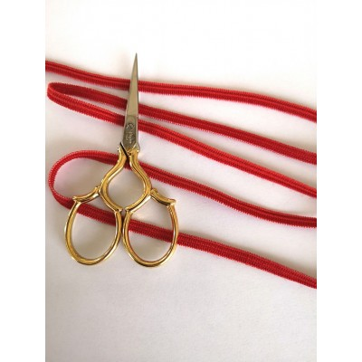 Ruban elastique pour bavettes rouge largeur mm.5 paquet MT.20