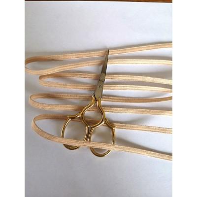 Nastro elastico morbido per mascherine colore cipria altezza mm.5 confezione MT.20